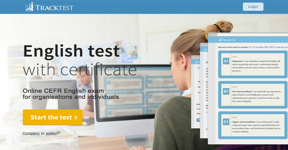 English proficiency test online- TrackTest English